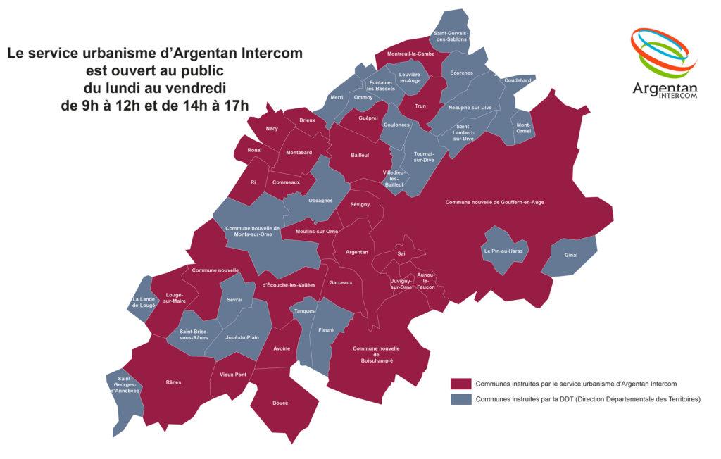 Carte instruction urbanisme